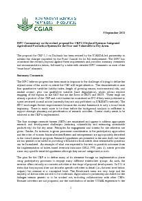 ISPC Commentary on the Revised Proposal for CRP 1.1 - September 2011