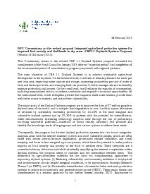 ISPC Commentary on the Revised Proposal for CRP 1.1 - February 2013