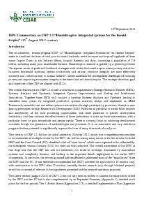 ISPC Commentary on the Revised Proposal for CRP 1.2 - September 2012