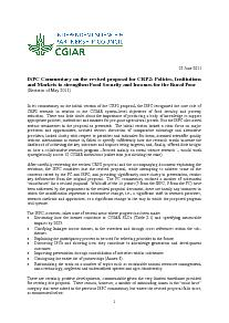 ISPC Commentary on the Revised Proposal for CRP 2 - June 2011