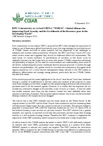 ISPC Commentary on the Revised Proposal for CRP 3.1 - September 2011
