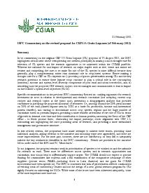 ISPC Commentary on the Revised Proposal for CRP 3.5 - February 2012