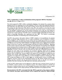 ISPC Commentary on the Revised Proposal for CRP 3.6 - September 2012