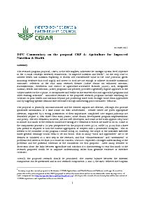 ISPC Commentary on the Proposal for CRP 4 - June 2011