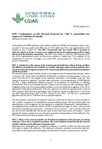 ISPC Commentary on the Revised Proposal for CRP 4 - November 2011