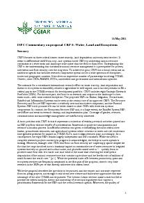 ISPC Commentary on the Proposal for CRP 5 - May 2011