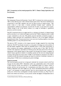 ISPC Commentary on the Revised Proposal for CRP 7 - February 2011
