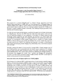 ISPC Commentary on the Proposal for CRP 7 - October 2010