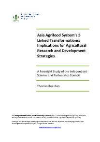 Asia Agrifood System's 5 Linked Transformations