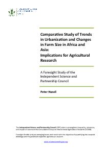 Comparative Study of Trends in Urbanization and Changes in Farm Size