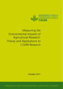 Measuring the Environmental Impacts of Agricultural Research