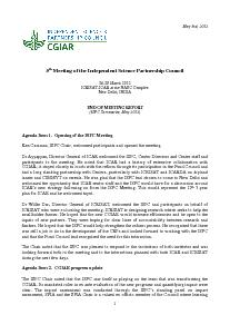 End of Meeting Report - ISPC 5