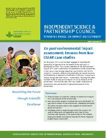 Ex-post Environmental Impact Assessment: Brief Number 39