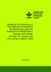 Measuring the Effectiveness of Crop Improvement Research in SSA