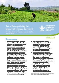 Towards Appraising the Impact of Legume Research: Brief Number 44