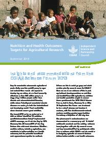 Nutrition and Health Outcomes: Targets for Agricultural Research. Brief 43