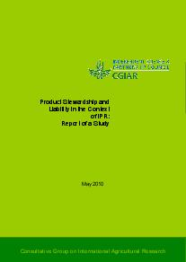 Product Stewardship and Liability in the Context of IPR: Report of a Study