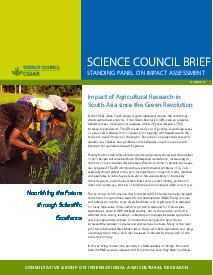 Impact of Agricultural Research in South Asia: Brief Number 21