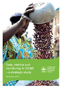 Data, Metrics, and Monitoring in CGIAR - Strategic Study