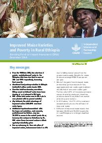 Improved Maize Varieties and Poverty in Rural Ethiopia: Brief Number 45