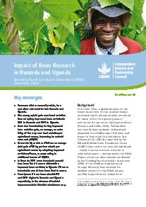 Impact of Bean Research in Rwanda and Uganda: Brief Number 46