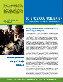 Policy-oriented Research in the CGIAR: Assessing the Impact. Brief Number 23