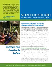 Community-Based Fisheries Management in Bangladesh: Brief Number 30