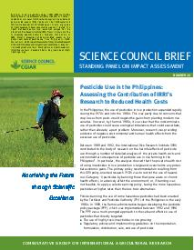 Pesticide Use in the Philippines: Contribution-IRRI's Research. Brief Number 29