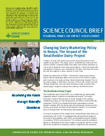 Changing Dairy Marketing Policy in Kenya: Brief Number 28