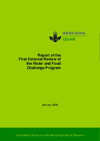 Report of the First External Review of the Water and Food Challenge Program