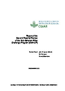 Report of the Second External Review of SSA-CP