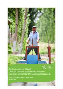 An Evaluation of CGIAR Centers' IA Work on Irrigation, Water Management Research