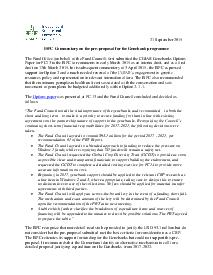 ISPC Commentary on the Preproposal for the Genebank programme