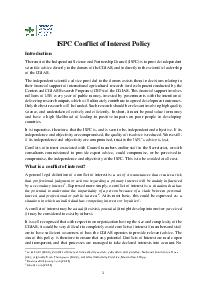 ISPC Conflict of Interest Policy