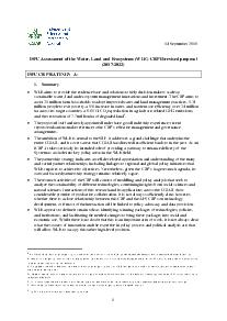 ISPC Assessment: Water, Land and Ecosystems