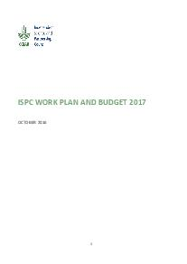 ISPC Work Plan and Budget - 2017