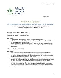 End of Meeting Report - ISPC 15