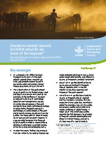 Livestock-related research in CGIAR: what do we know of the impacts?