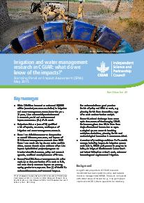 Irrigation and water management research in CGIAR: what do we know of the impact
