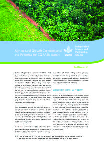 Agricultural Growth Corridors and the Potential for CGIAR Research