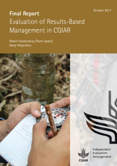Final Report: Evaluation of Results-Based Management in CGIAR