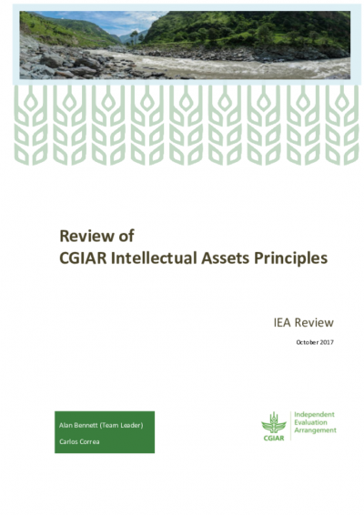 Final Report - Review of the CGIAR Intellectual Assets Principles