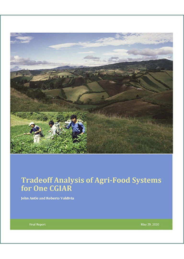 Cover Tradeoff Analysis of Agri-Food Systems for One CGIAR